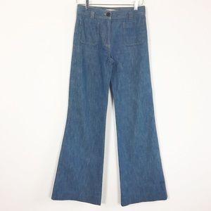 3.1 Phillip Lim wide leg flare high rise jeans 2